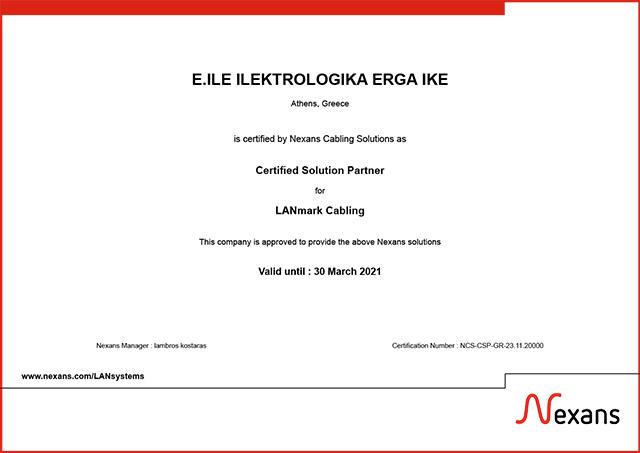nexans certified